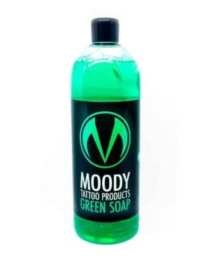 moody green soap