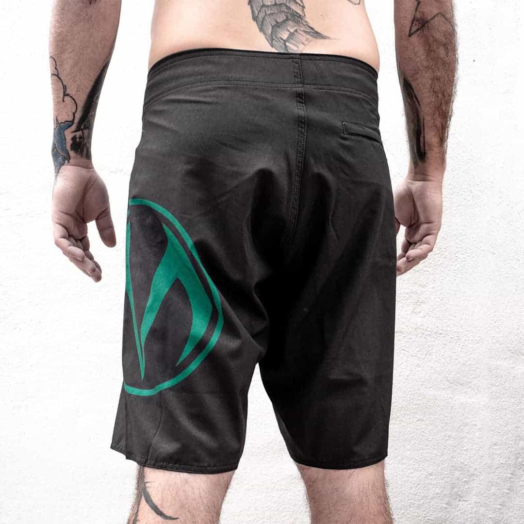 moody side logo beach shorts